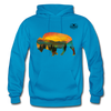 Bison at Yellowstone Hoodie - turquoise