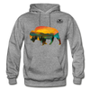 Bison at Yellowstone Hoodie - graphite heather