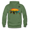 Bison at Yellowstone Hoodie - military green