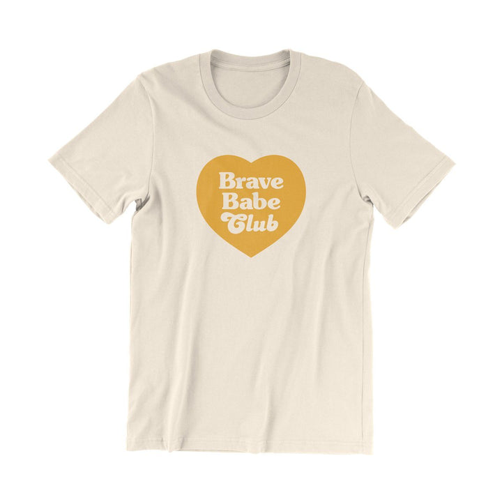 valiant daughter collective feminist vintage t shirt brave babe club cream yellow heart