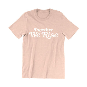 Valiant Daughter Collective feminist vintage t shirt together we rise peach pink