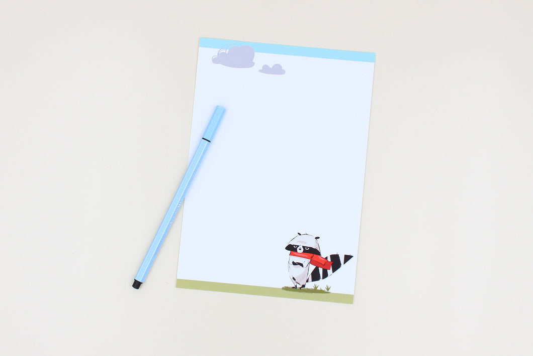 Letter Sheets - Raccoon