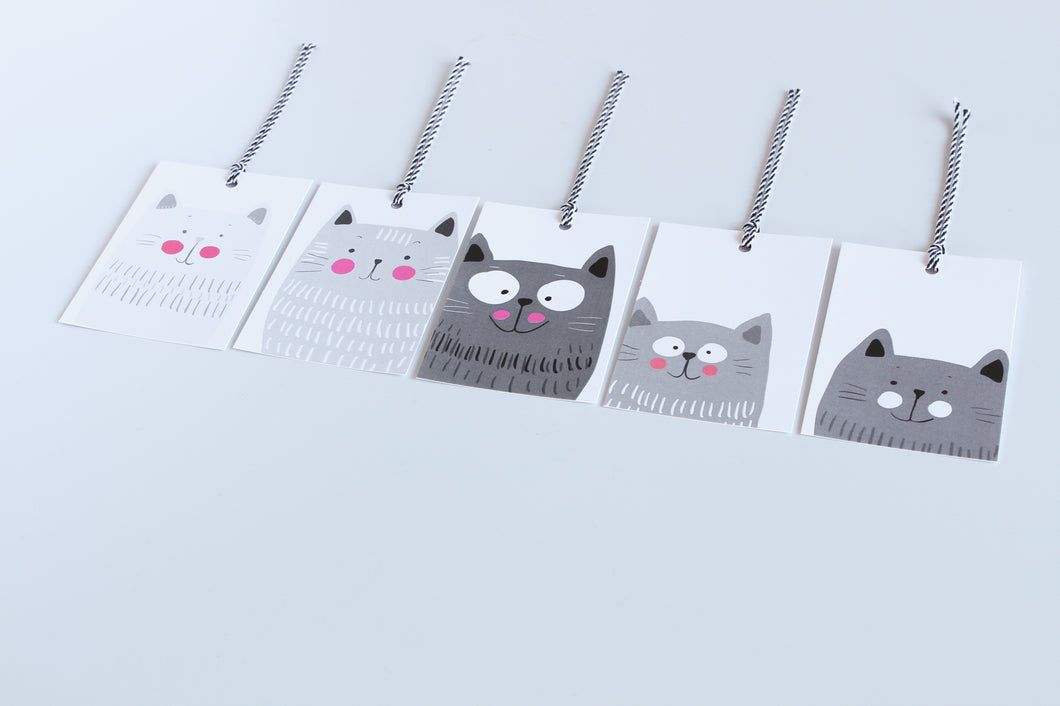 Peek-A-Boo Cat - Gift Tags
