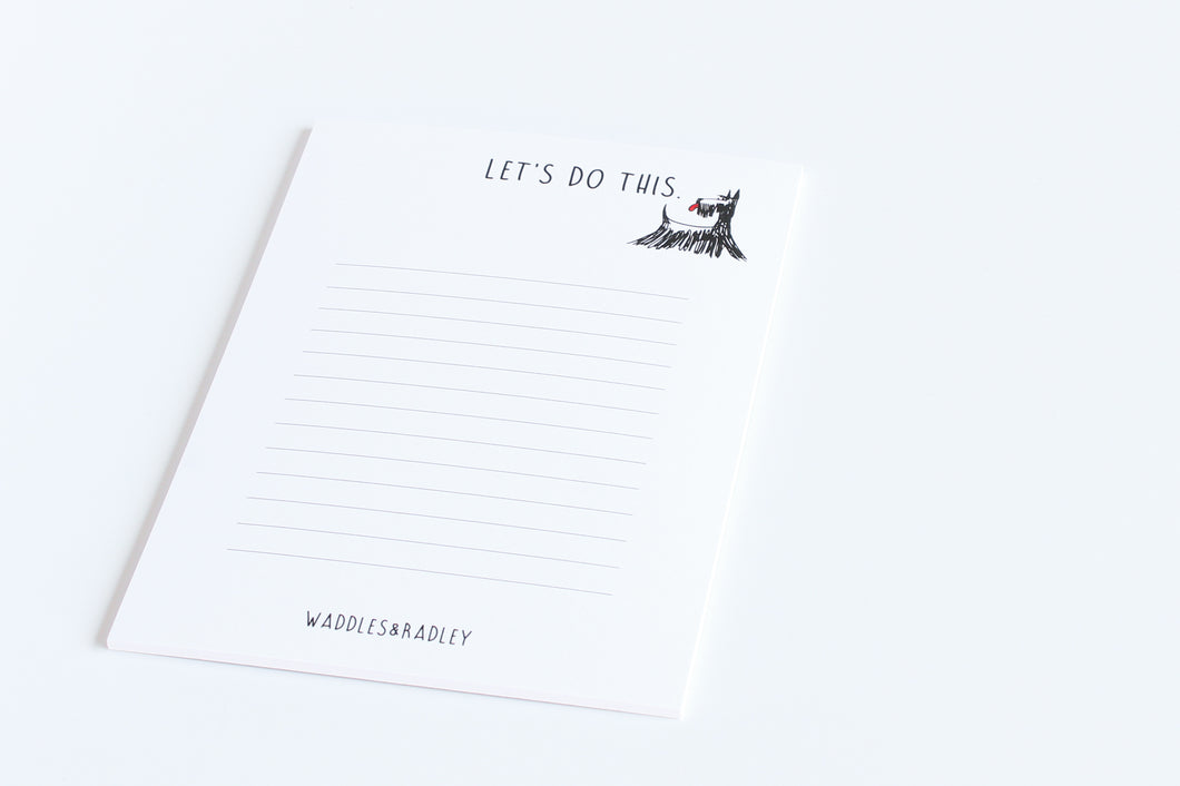 A6 Scottie Dog - Notepad