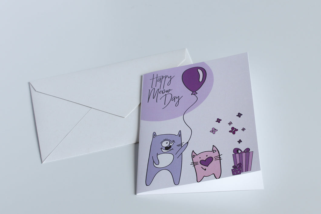 Happy Meow Day - Greeting Card