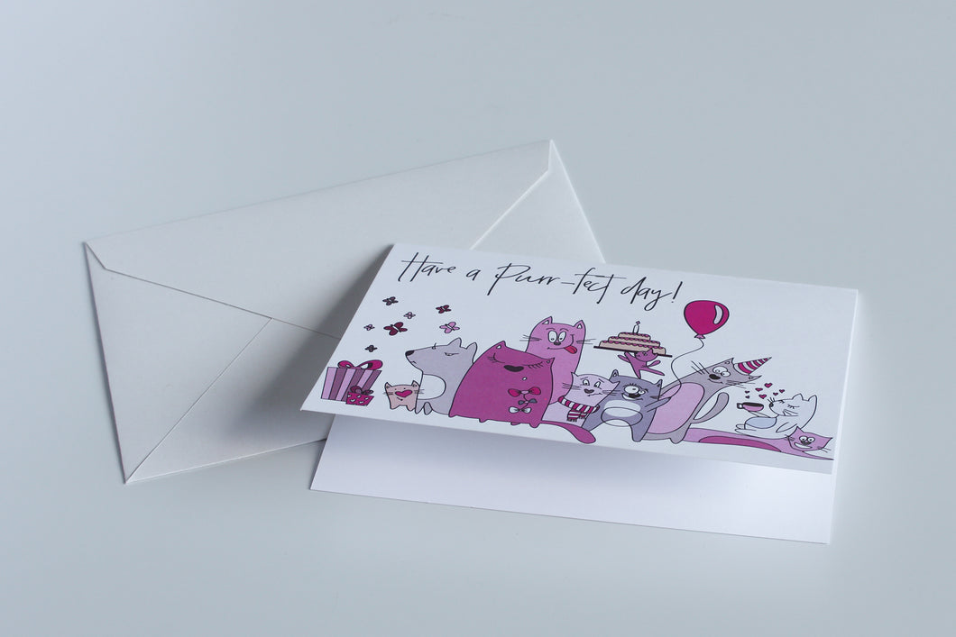Have a Purr-fect Day - Greeting Card