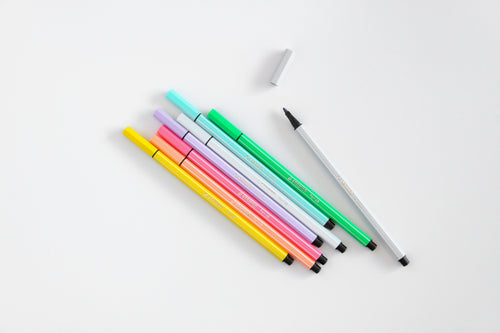 Stabilo Fibre-Tip Pen 68 Pastel - Wallet of 8