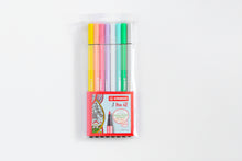 Load image into Gallery viewer, Stabilo Fibre-Tip Pen 68 Pastel - Wallet of 8