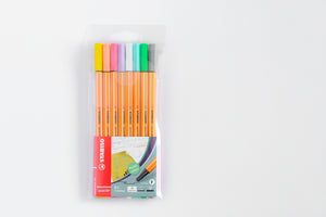Stabilo Fineliner Point 88 Pastel - Wallet of 8