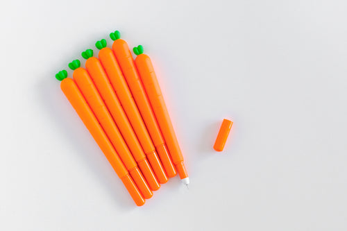Carrot Gel Pen (Black Ink)