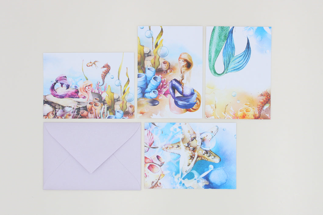 Mermaid - Note Cards with Envelopes