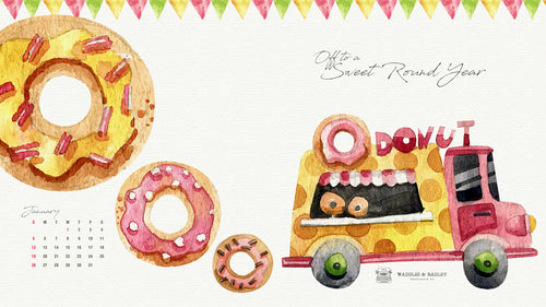 Sweet Round Year January 2020 Digital FREEBIE