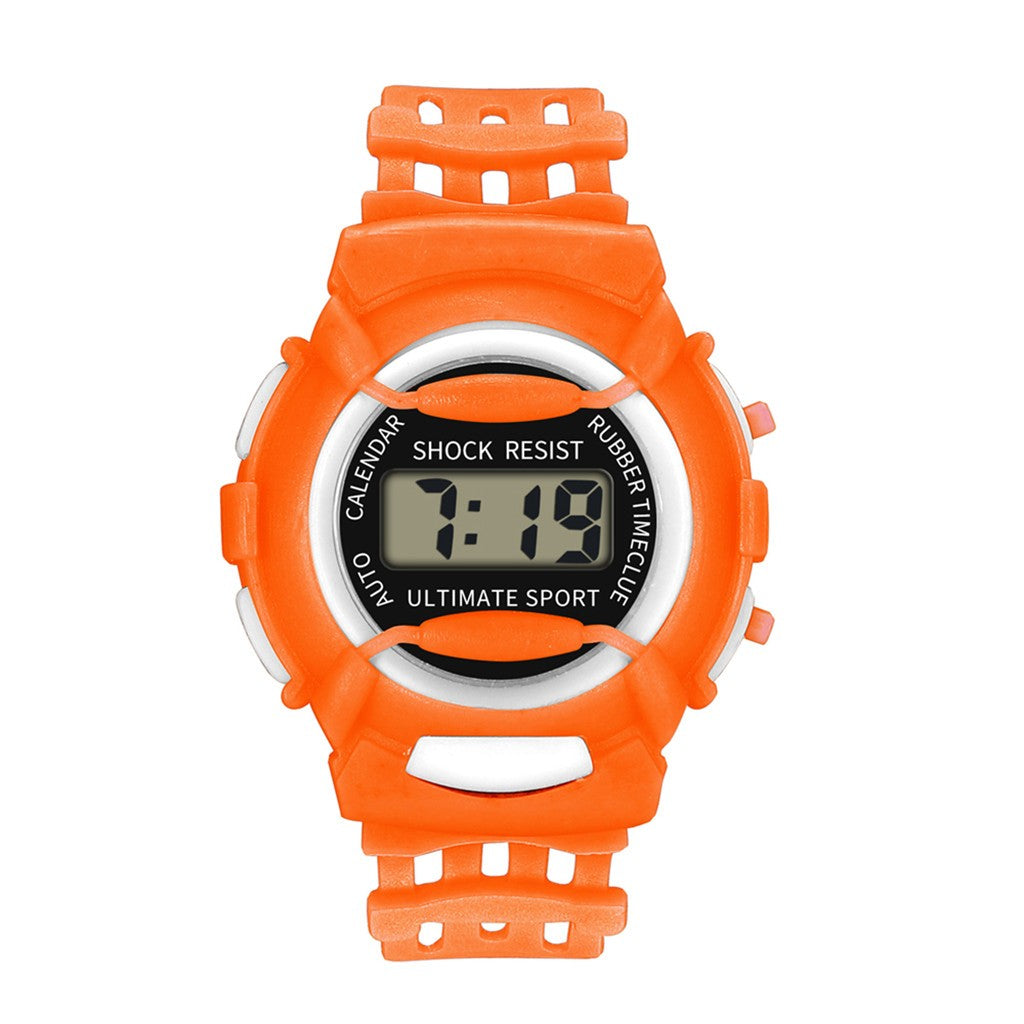 Children Girls Analog Digital Sport Led Electronic Waterproof Wrist Watch New Children's Watches