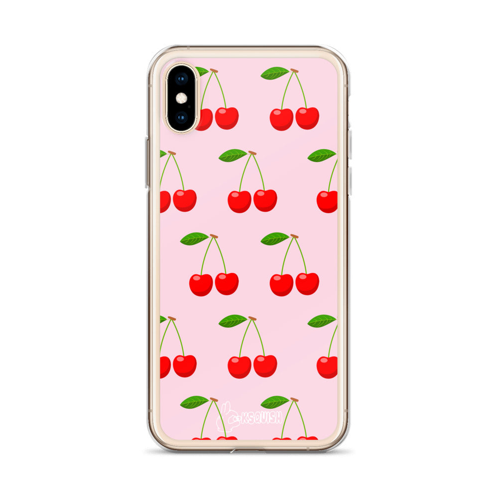 Pink Cherry iPhone Case