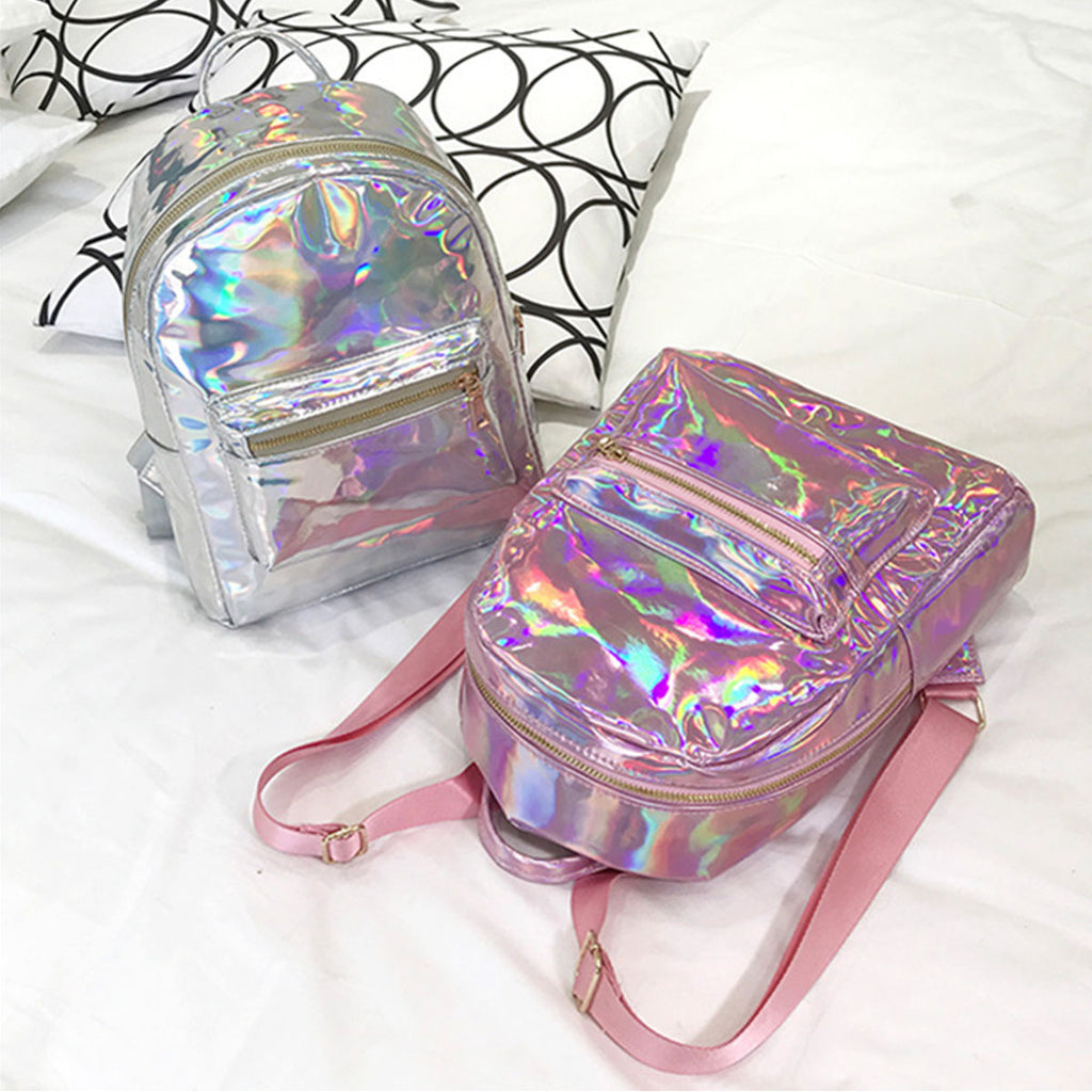 Leather Holographic Backpack