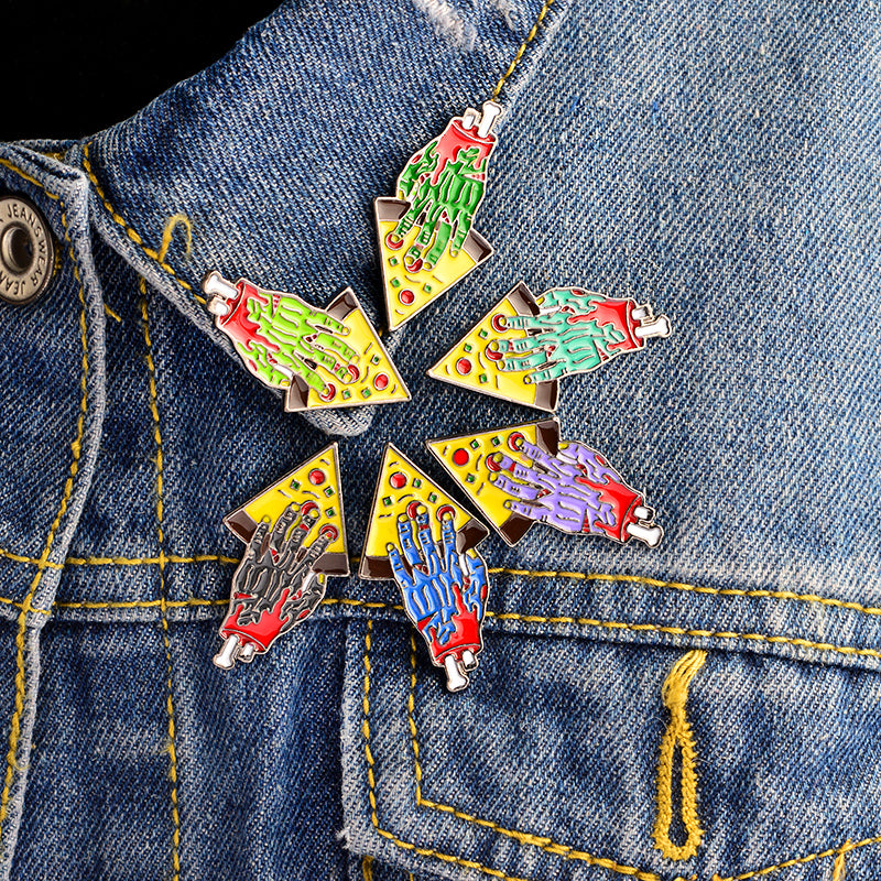 Zombie Pizza Pin Set