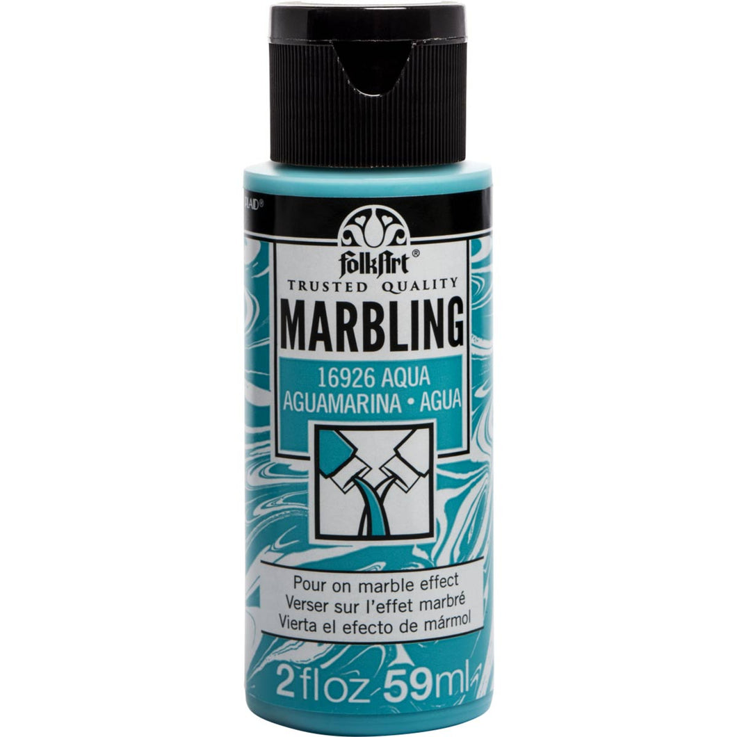 Plaid Folkart Marbling paint Aqua 2oz