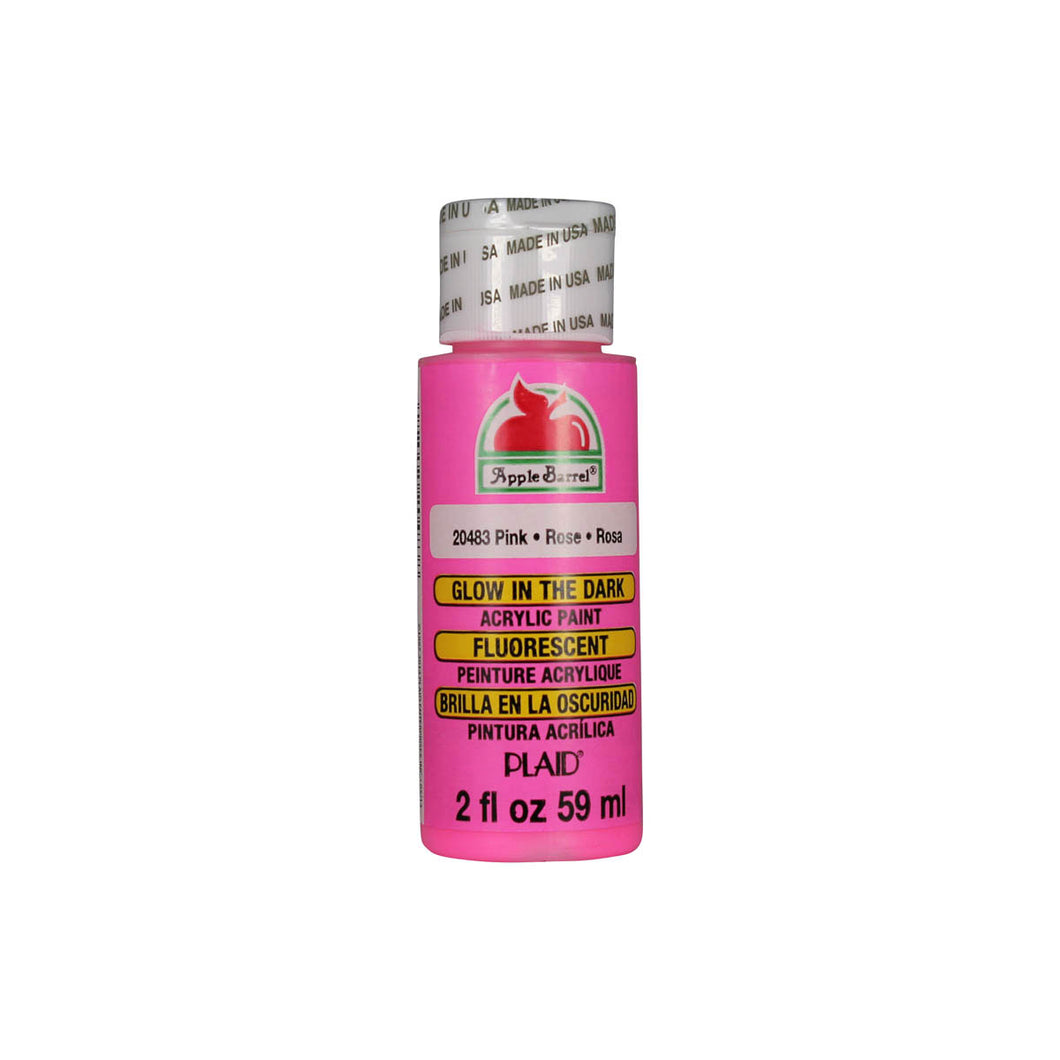 APPLE BARREL GLOW-IN-THE-DARK PINK (2OZ)