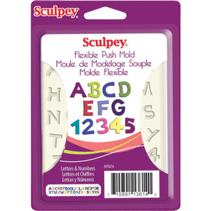 Sculpey Flexible Push Mold  Letters & Numbers APM76 APM76