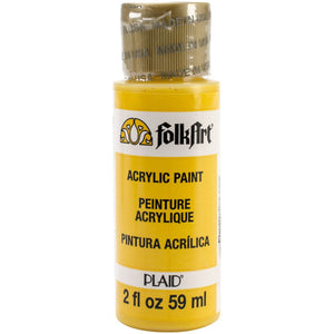 FOLKART ACRYLIC PODGE YELLOW (2OZ)