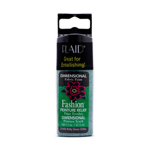 FABRIC CREATIONS 3D GLITTER KELLY GREEN (1.1OZ)