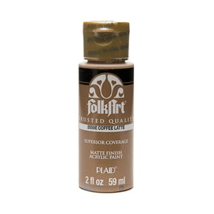FOLKART ACRYLIC COFFEE LATTE (2OZ)