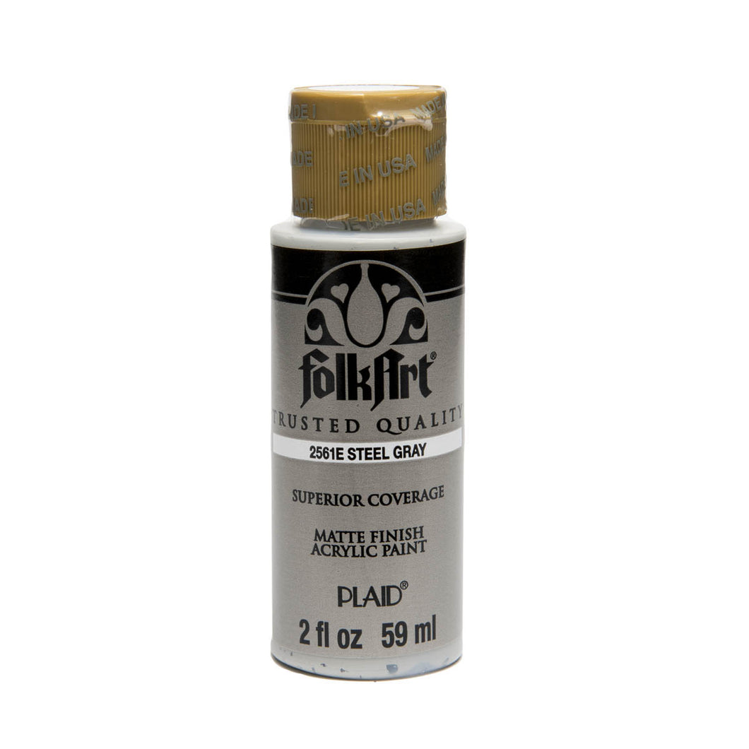 FOLKART ACRYLIC STEEL GRAY (2OZ)