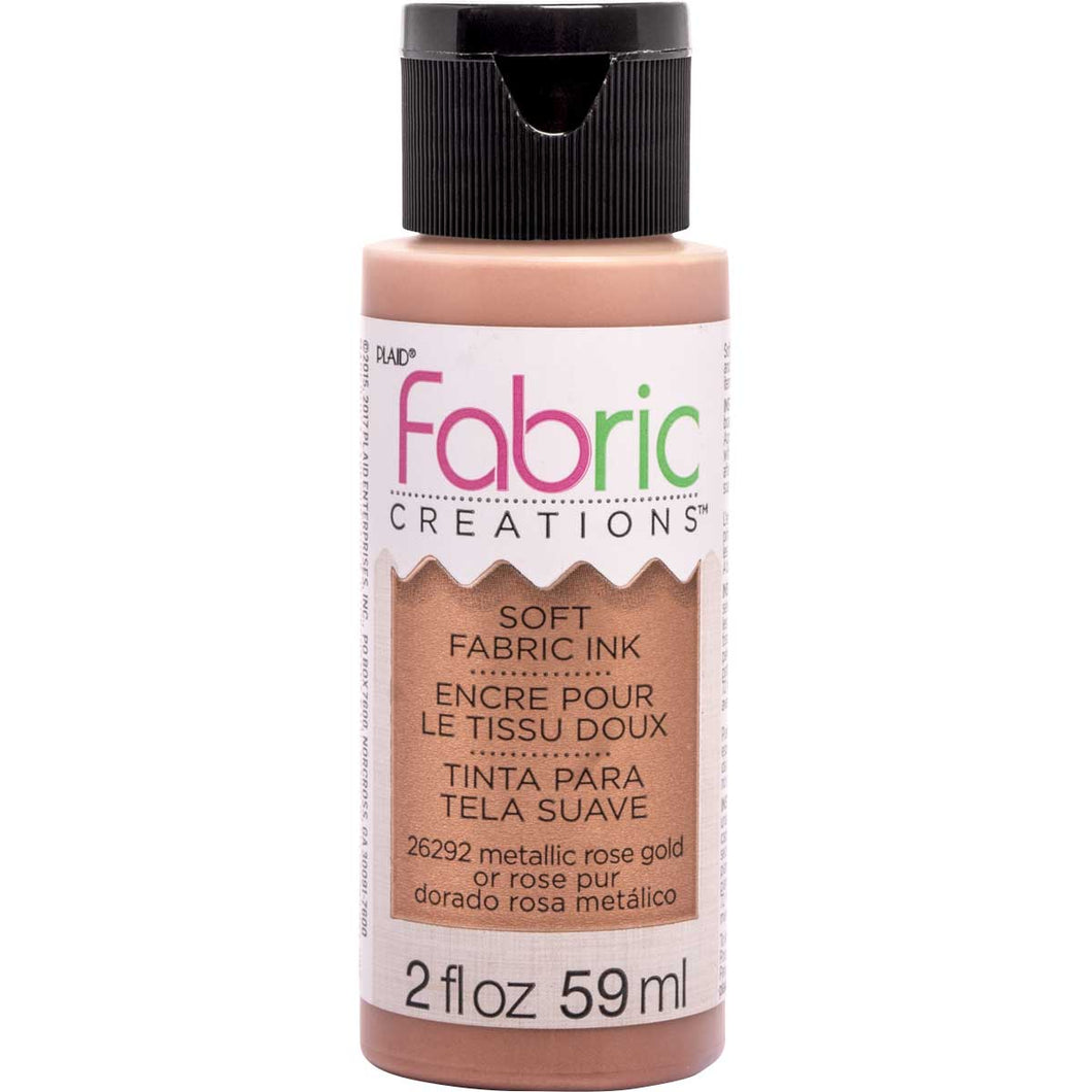 FABRIC CREATIONS SOFT FABRIC INK METALLIC ROSE GOLD (2OZ)