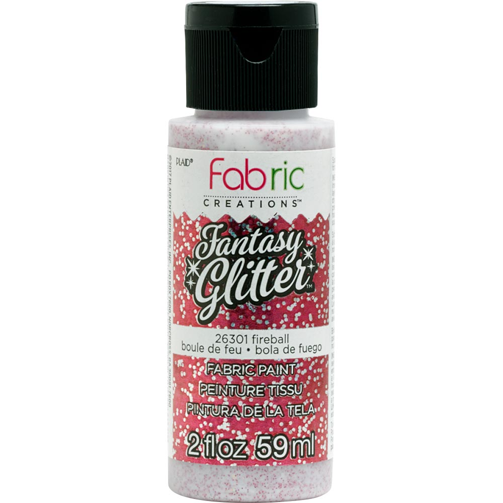 FABRIC CREATIONS FANTASY GLITTER FIREBALL (2OZ)