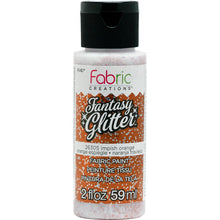 FABRIC CREATIONS  FANTASY GLITTER IMPISH ORANGE (2OZ)