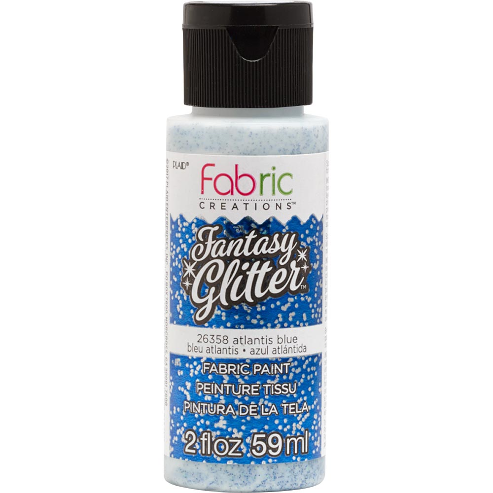 FABRIC CREATIONS FANTASY GLITTER ATLANTIS BLUE (2OZ)