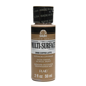 FOLKART ACRYLIC MULTI USE COFFEE LATTE (2OZ)