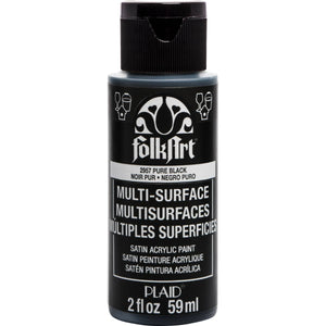 FOLKART ACRYLIC MULTI USE PURE BLACK (2OZ)