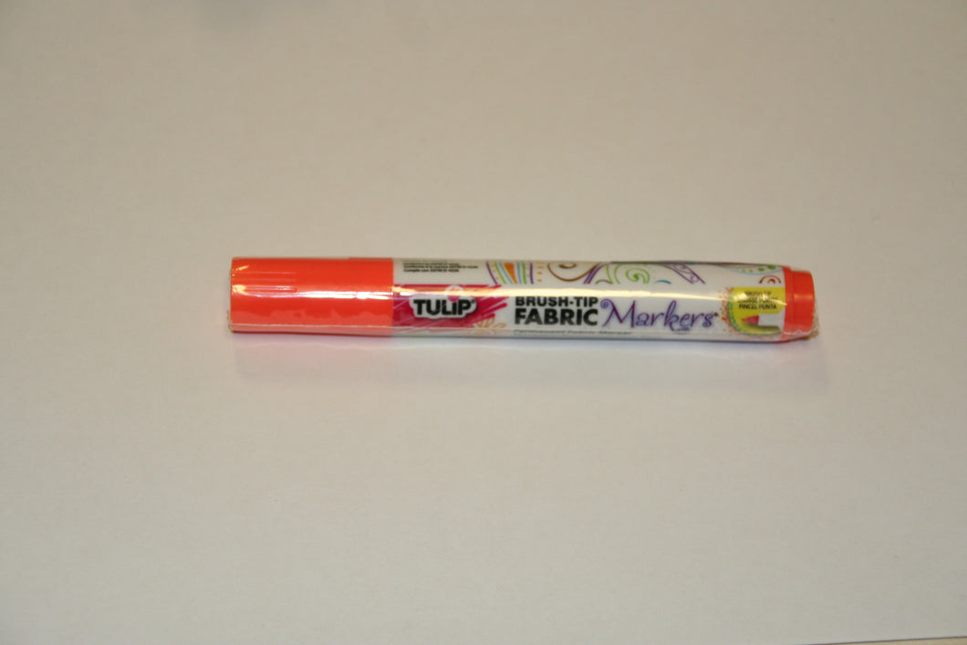 Bargain Corner - Tulip Fabric Marker Pen Brush Tip NEON ORANGE