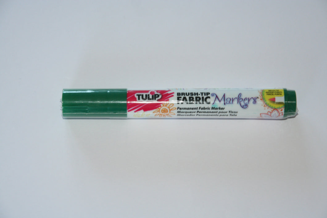 Bargain Corner - Tulip Fabric Marker Pen Brush Tip GREEN