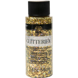 Folkart Glitterific 2oz GOLD  Plaid Crafts - Cosplay Polymer Card Making