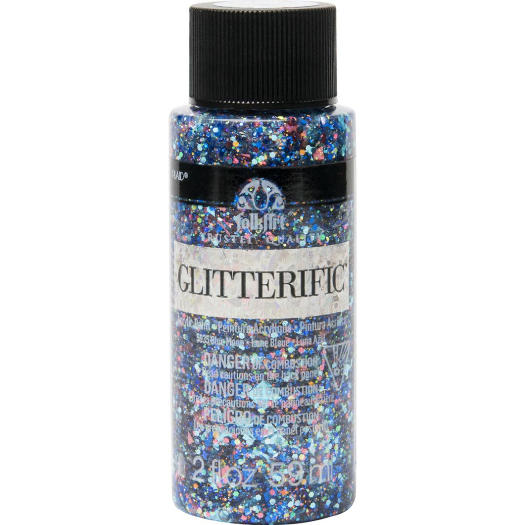Folkart Glitterific 2oz BLUE MOON Plaid Crafts