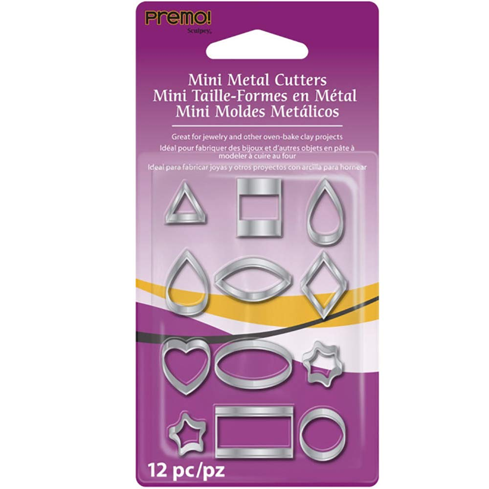 Premo Mini Metal Cutters 12 pc. AMMC Sculpey Polymer Clay