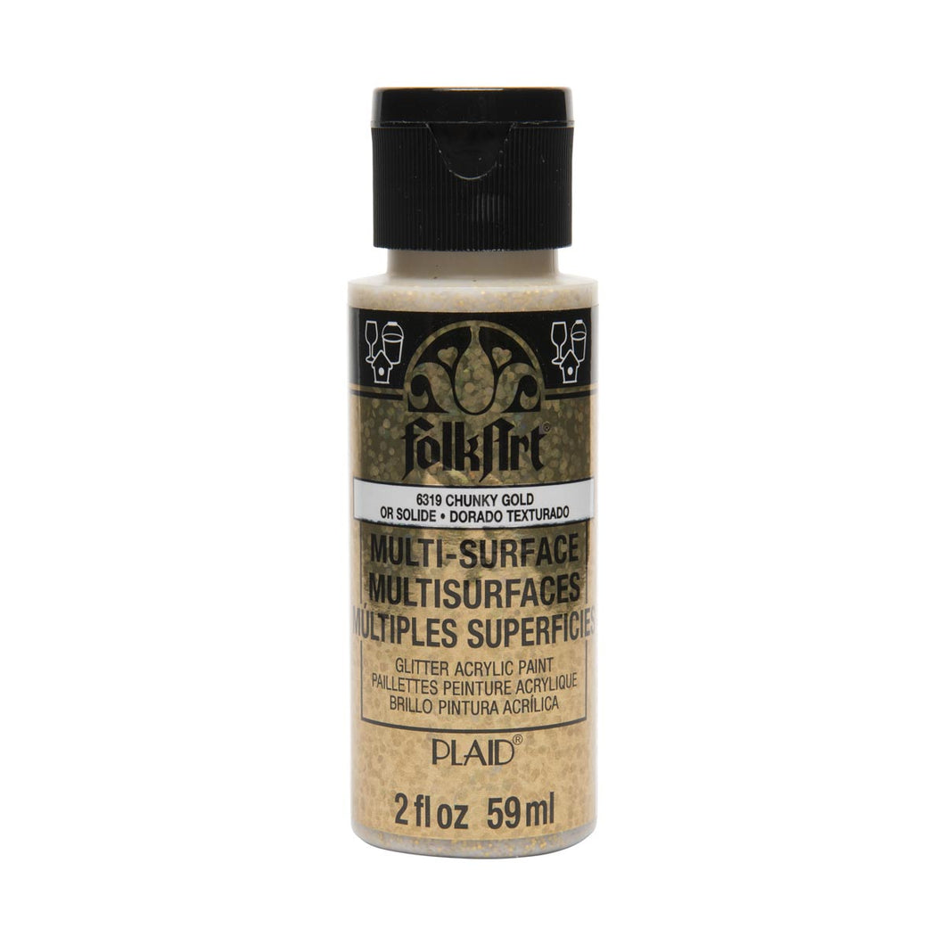 FOLKART MULTI USE GLITTER CHUNKY GOLD (2OZ)