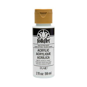 FOLKART ACRYLIC COTTAGE WHITE (2OZ)