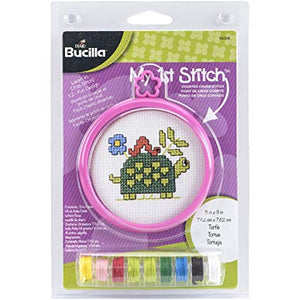 Bucilla Cross Stitch My 1st Stitch Mini Kit - TURTLE