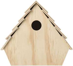 Plaid Retro Birdhouse  Plywood for painting staining