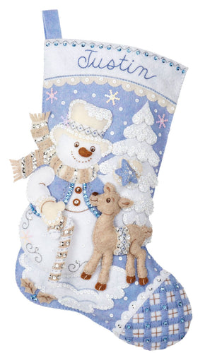 Bucilla Snowman's Winter Wonderland Christmas Stocking Kit - 89245E