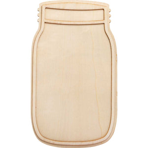 Plaid Plywood Mason Jar 10inch - blank for painting staining sticking