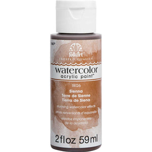 FOLKART WATERCOLOR ACRYLIC 2OZ SIENNA - Cosplay Card Making