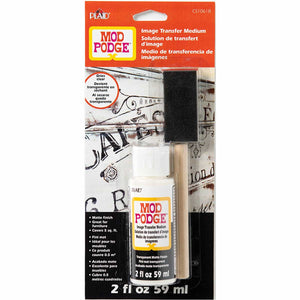 Mod Podge Image Transfer Medium  2oz with Brush