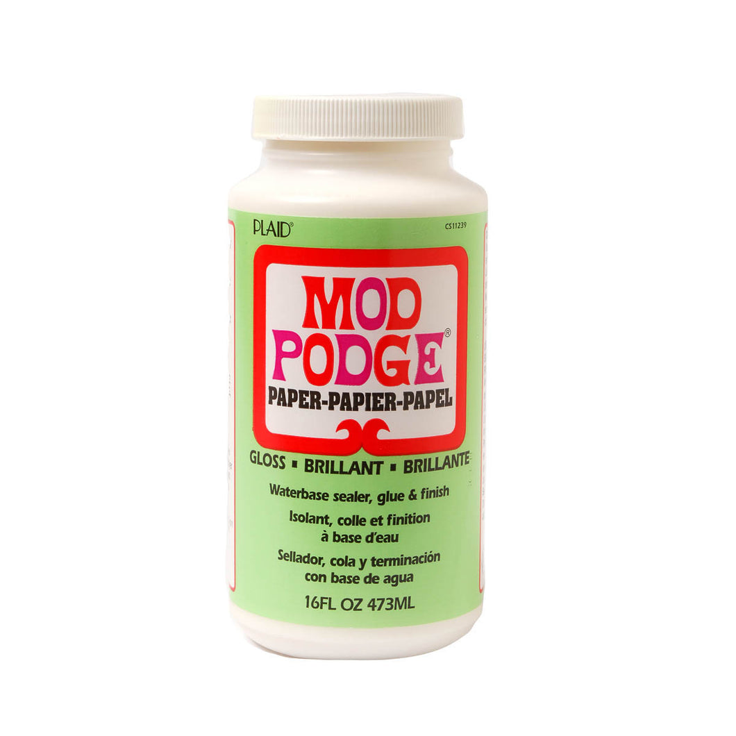 MOD PODGE  PAPER GLOSS (16OZ)