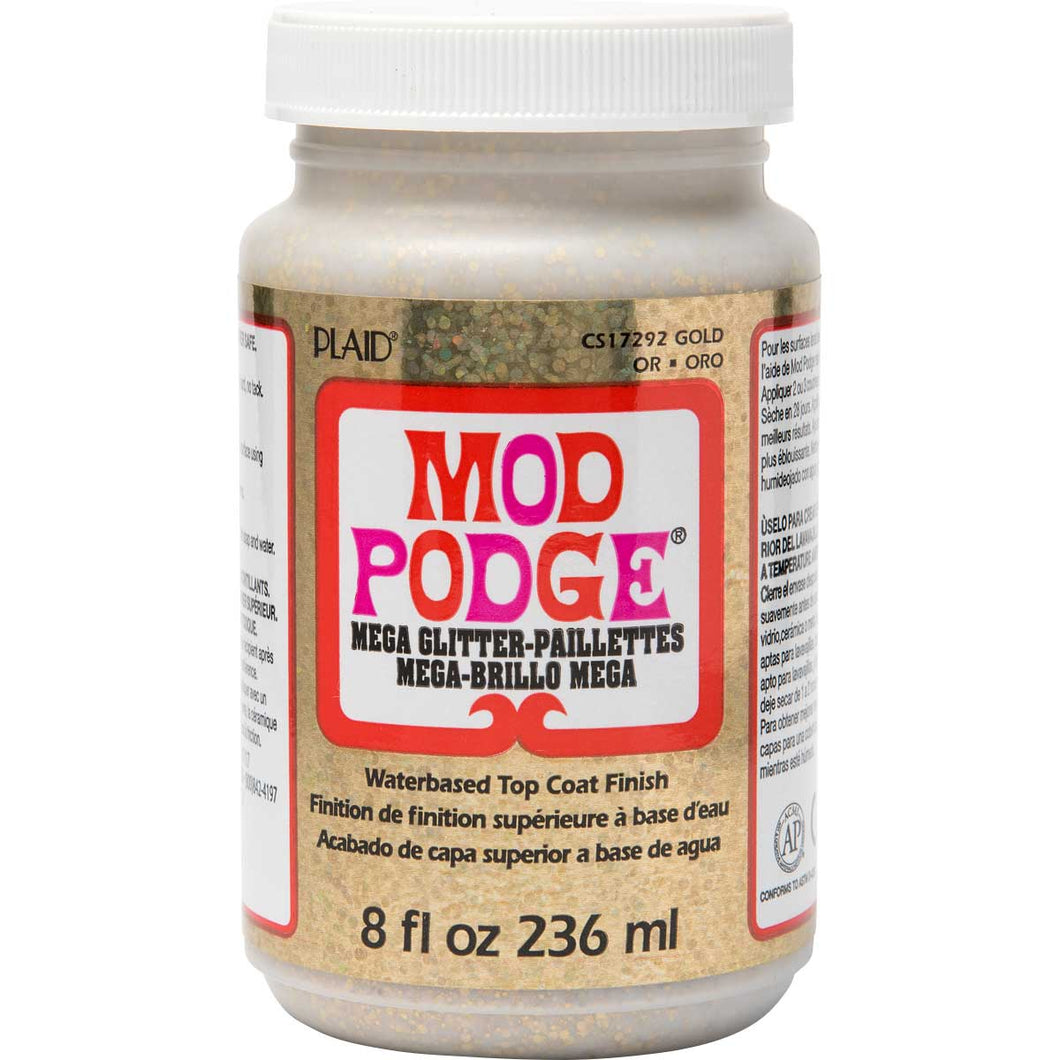 MOD PODGE MEGA GLITTER GOLD (8OZ)
