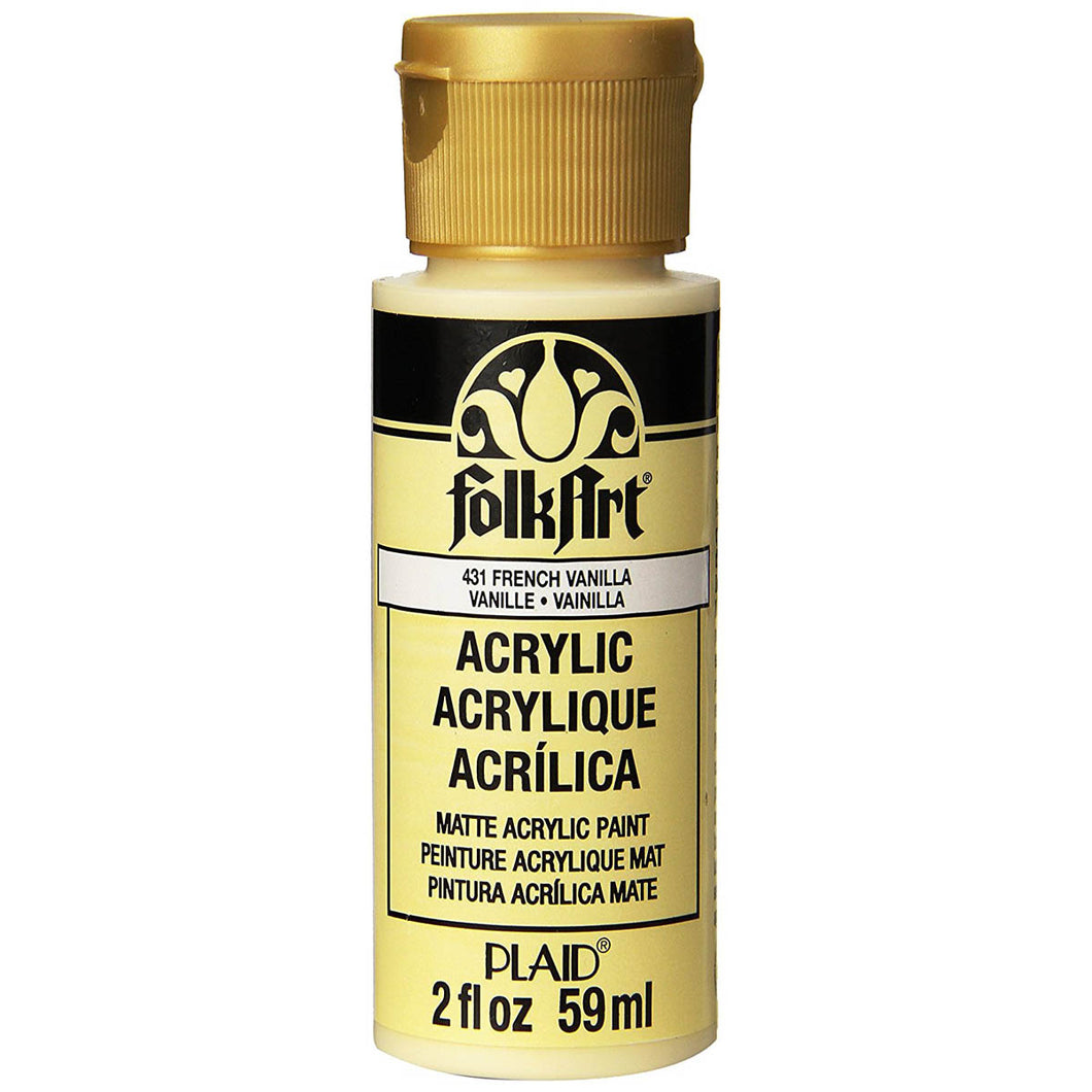 FOLKART ACRYLIC FRENCH VANILLA (2OZ)