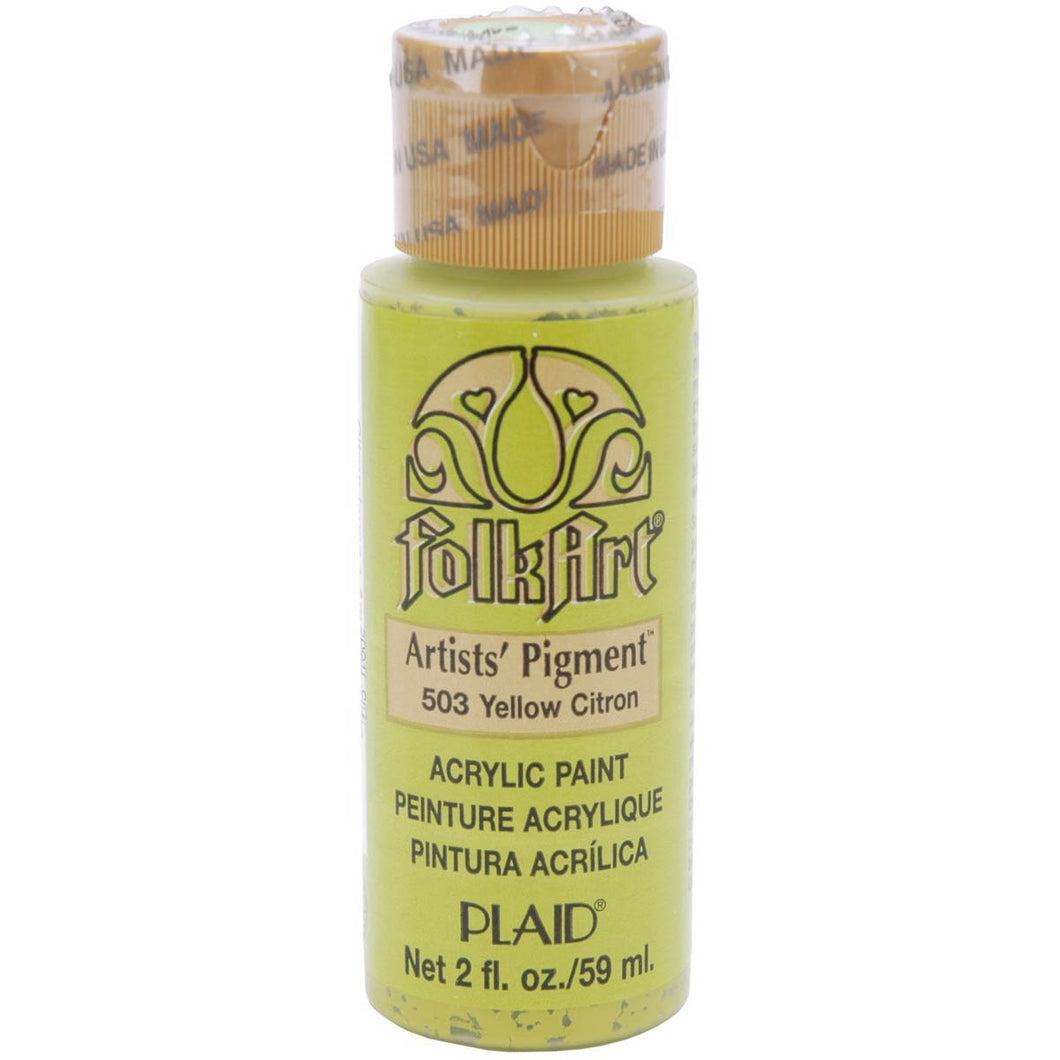 FOLKART ACRYLIC YELLOW CITRON (2OZ)